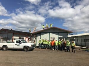 Commercial Roofing donated roofing for the Kahauiki homeless community